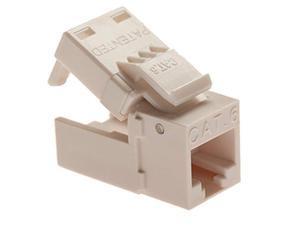 Platinum Tools EZ-SnapJack Connector, Cat6 (Single), Ivory