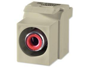 On-Q/Legrand Red RCA To RCA Keystone Connector, Ivory