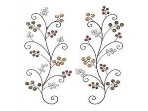 Mtl Cer Wall Decor Pr 37 Inches Height, 15 Inches Width