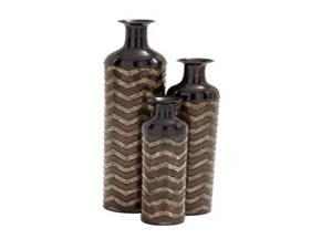 Mtl Nested Vase Set Of 3, 37 Inches, 30 Inches, 24 Inches Height