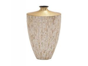 Lacquer Inlay Vase 10 Inches Width, 27 Inches Height