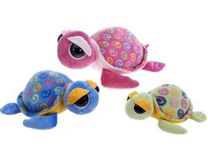 "12"""" 3 Assorted Big Eyes Swirl Turtles Case Pack 36"