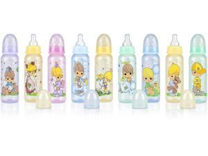3-Pack 8 oz. Round Tinted Printed Baby Bottle Case Pack 48