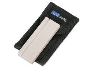 AccuSharp 3 Inch Natural Arkansas Pocket Stone with Pouch