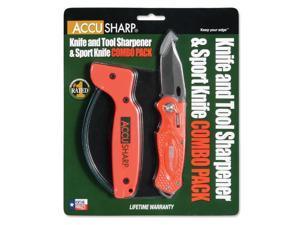 AccuSharp Sharpener & Sport Folding Knife Combo - Orange