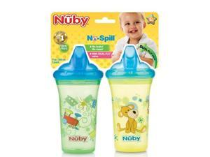 Nuby 2-pk Non Spill Cup with Hard Top Spout Case Pack 72