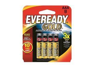 A92BP-8 Eveready Gold AAA Batteries 8pk