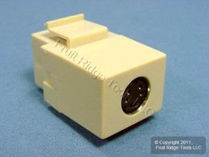 Leviton QuickPort S-Video Feedthrough Snap-In Connector, Ivory