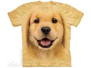 The Mountain 1037432 Golden Retriever Puppy T-Shirt - Large