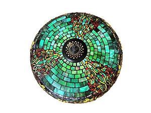 "34"" H Stained Glass Hampstead Table Lamp w/ Turtleback and Mosaic Base"