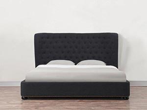 Finley Grey Linen Bed in King