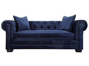 Norwalk Navy Velvet Sofa