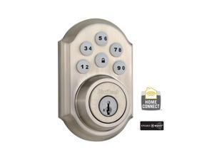 SmartCode Single Cylinder Satin Nickel Electronic Deadbolt with Home Connect Technology Featuring Z-Wave