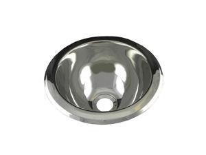 Undercounter/Drop-In Bathroom Sink in Brushed Stainless-Steel