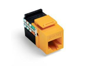 Leviton QuickPort GigaMax 5e Snap-In Connector, Yellow