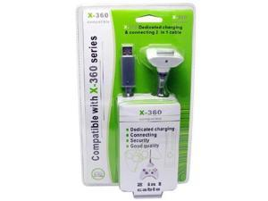 XBox 360 Compatible 2 in 1 Charger & 6 Feet Connector Cable