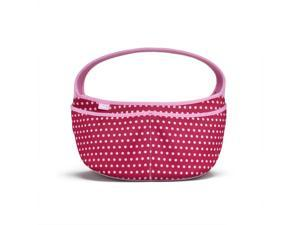BUILT Baby Buddy Essentials Caddy, Baby Pink Mini Dots