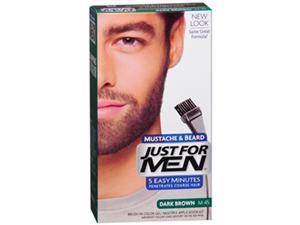 Just For Men Brush-In Moustache Beard & Sideburns Dark Brown Gel - 1 ea