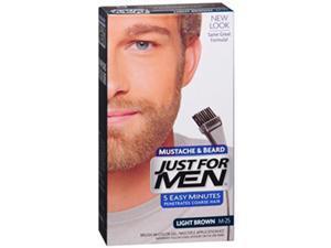 Just For Men Mustache Beard Brush-In Color Gel Light Brown M-25 - 1 Each