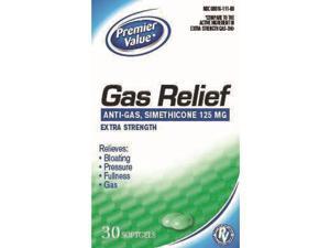 Premier Value Gas Relief Extra Strength Softgel - 30ct