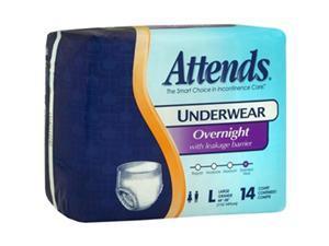 Attends Underwear Overnight Large - 4 pks of 14