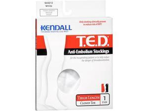 T.E.D. Anti-Embolism Stockings Thigh Length 18 mm/Hg White Medium Short- 1 Pair