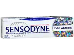 Sensodyne Maximum Strength with Fluoride Toothpaste Extra Whitening - 4 oz