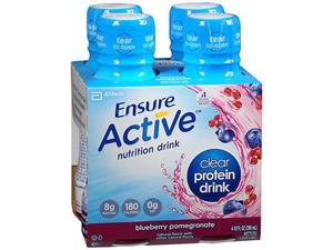 Ensure Active Clear Protein Drinks Blueberry Pomegranate - 10 oz - 12 pack