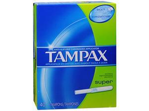 Tampax Flushable Super Tampons - 40 ea