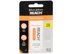Reach Dentotape Waxed Floss Unflavored - 100 yds.