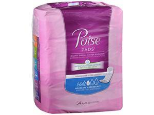 Poise Pads Moderate Absorbency Long Length - 4 Packs of 54