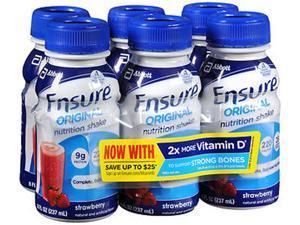 Ensure Original Nutrition Shakes Strawberry, 24 - 8 oz