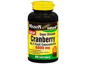 Mason Natural Cranberry 6000 mg Super Strength - 60 Softgels