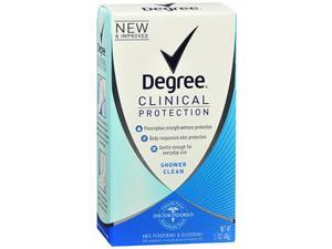Degree Women Clinical Protection Anti-Perspirant Deodorant TriSolid Shower Clean - 1.7 oz