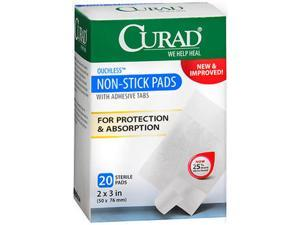 Curad Non-Stick Pads With Adhesive Tabs 2X3 - 20 ct