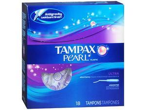 Tampax Pearl Plastic Tampons Ultra Unscented - 18 ct