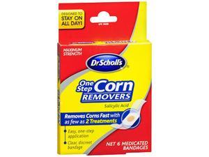 Dr. Scholl's One Step Corn Removers, Maximum Strength - 6 pack