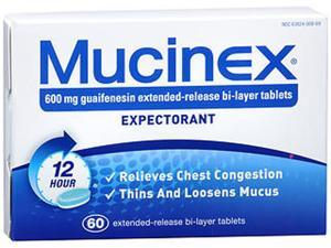 Mucinex Extended-Release Tablets - 60 Ct.