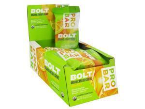 Probar Bolt Energy Chews - Organic Orange - 2.1 Oz - Case Of 12