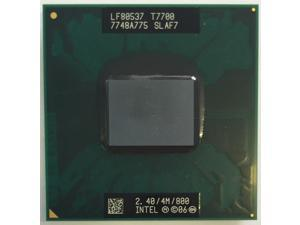 Intel Core2 Duo T7700 2.4GHz SLA43 SLAF7 4MB 800MHz Socket P 478-pin laptop CPU