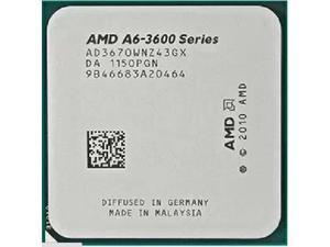 AMD A6-3670K 2.7GHz APU with AMD Radeon 6530 HD Graphics Unlocked Socket FM1 100W Quad-Core Processor desktop CPU