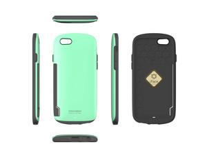 """iFace Innovation  4.7"""" Case Card Pocket included / Perfect Grip / Anti Shock TPU Fit Bumper Cover Case for Apple iPhone 6 - Mint Color"""