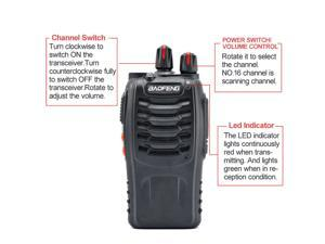 Baofeng  888S UHF 400-470 MHz 2-Way Radio Portable Handheld Talkie 5W 16CH