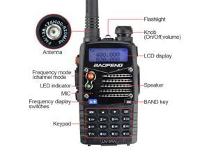 BAOFENG UV-5RA+ Plus 136-174 / 400-520MHZ Dual Band U/V handheld Radio ,More Rich and Enhanced Features (NEWEST May 2013 Enhanced Version)