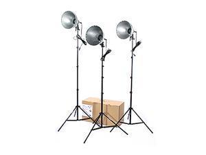 RPS Studio 3 Light Photoflood, Reflector & Stands Studio Kit (RS-4003)