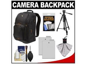 Case Logic Digital SLR Camera Backpack Case (Black) (SLRC-206) with (2) LP-E8 Batteries + Tripod + Accessory Kit