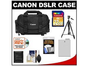 Canon 2400 Digital SLR Camera Case - Gadget Bag with 32GB Card + LP-E8 Battery + Tripod + Accessory Kit