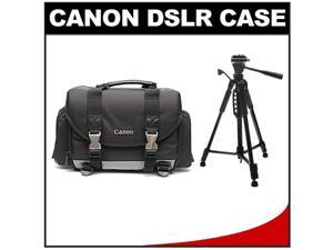 "Canon 200DG Digital SLR Camera Case - Gadget Bag with 58"" Photo/Video Tripod Kit"