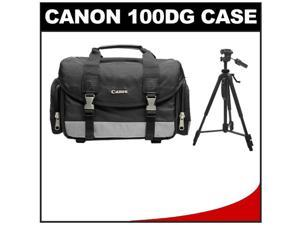"Canon 100DG Digital SLR Camera Case - Gadget Bag with 58"" Photo/Video Tripod"