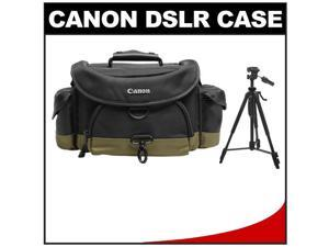 "Canon 10EG Deluxe Digital SLR Camera Case - Gadget Bag with 58"" Photo/Video Tripod"